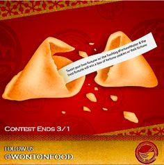 Be sure to tweet and use the hashtag #FortuneMaster with your best fortune to enter to win a case of custom fortune cookies with your winning fortune inside!