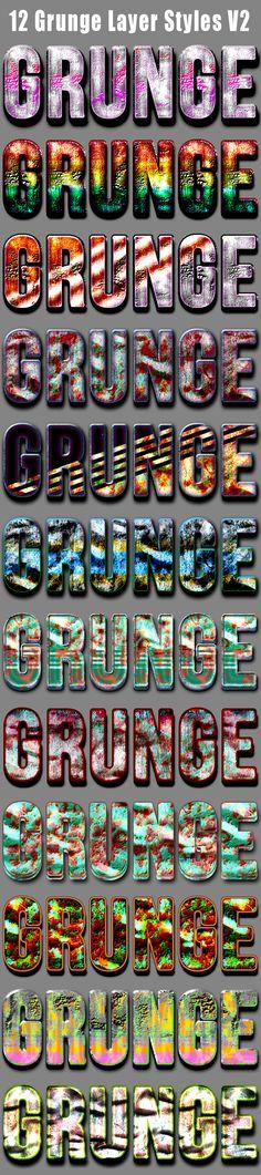 12 Grunge Layer Styles V2