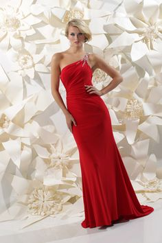 Sparkle 2013 Red One Shoulder Beaded Open Back Prom Dress 71232 | Promgirl.net