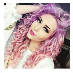 Pastel pink & purple hair