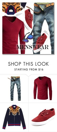 """""""menswear"""" by svijetlana ❤ liked on Polyvore featuring Gucci, Filament, men's fashion, menswear and rosegal"""