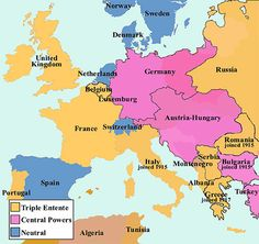 World war one alliances in 1917 world of maps pinterest a diminutive conflict broke the world out into world war one of the main causes gumiabroncs Choice Image