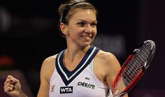 DOHA, Qatar -- Seventh-seeded Simona Halep of Romania won her first title of the year with a victory over sixth-seeded Angelique Kerber of Germany in the Qatar Open final on Sunday. It s the seventh career title for Halep, with the other s Wta Tennis, Tennis News, Tennis Racket, Simona Halep, French Open, Serena Williams, Wimbledon, Romanian People, Angelique Kerber