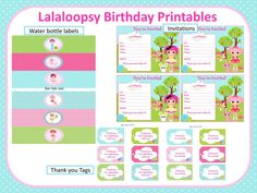 Lalaloopsy Birthday Party Printables by ScrapNteach on Etsy