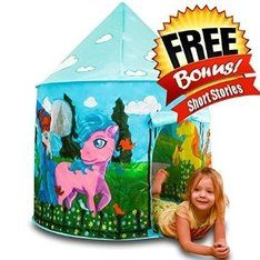 ToysOpoly Girl's Blue Princess Castle Playhouse - Best Playhut With Glow In The Dark Clouds - Tent Theme Artwork is My Little Pony - Perfect Playset for Kids to Play with Friends Horse Gifts, Gifts For Horse Lovers, Castle Playhouse, Love Coupons, Princess Castle, Outdoor Play, Play Houses, My Little Pony, Toy Chest