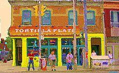 Bakery Painting - Tortilla Flats Tex Mex Restaurant Paintings Downtown Toronto Cafe Scenes Carole Spandau Art by Carole Spandau