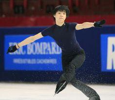 Yuzuru Hanyu 「僕は僕なりにやりたい」フランス杯の公式練習で調整する羽生結弦(共同)