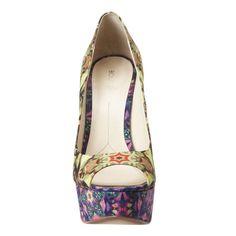 "Boutique 9 peep toe pump.  5 1/2"" heel with 1 1/2"" platform. $110"