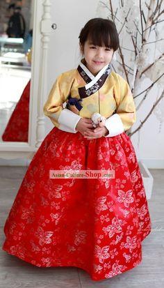 Traditional Korean Girl Hanbok