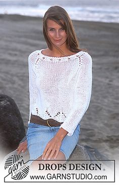 Ravelry: 94-21 Fitted jumper with raglan sleeves pattern by DROPS design