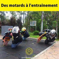 Des motards à l entraînement