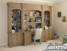 Bed Room Desk / Wall Unit Custom Made By Jim Farris Cabinets