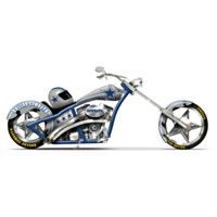 Dallas Cowboys Cruising With Americas Team Motorcycle Figurine