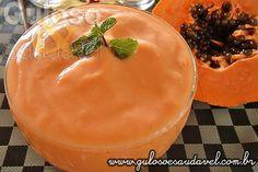 Delicie-se sem culpa com este Frozen Iogurte de Mamão é levinho, feito com ingredientes naturais e, huumm, é bom demais!    #Receita aqui: http://www.gulosoesaudavel.com.br/2012/09/11/frozen-iogurte-mamao/