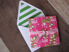 Cute striped envelope liner