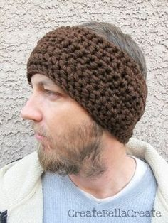 Manly Ear Warmer (By: Bella for Create Bella Create - www.favecrafts.com)