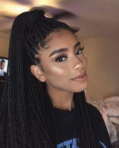 Braided Hairstyles Updo, Crochet Braids Hairstyles Curls, African Braids Hairstyles, Cool Hairstyles, Afro Braids, Teenage Hairstyles, Blonde Braids, Hairstyles 2016, Box Braids Tutorial