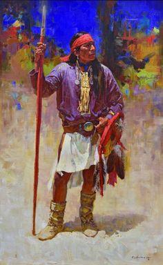 Mountain Apache, Oil Paintings, White Mountain, Alchesay White, Basha…