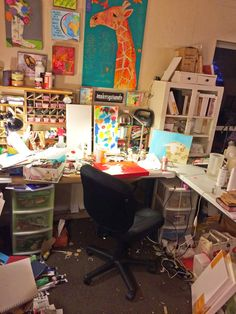LeissnerArt: Keeping It Real--Studio Table