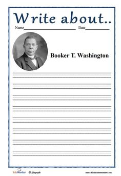 a study of the life of booker t washington Ideas they learned at booker t washington nm included: the life of booker t washington, his  booker t washington nm visitor study summer 1995 4 results visitors.