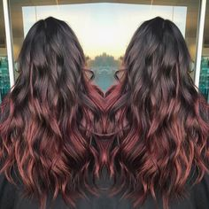 See this Instagram photo by @hairbysparks13 Mahogany Balayage Hair Color