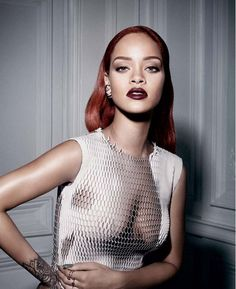 The Edgy Rihanna Editorial You Have to See via @WhoWhatWear