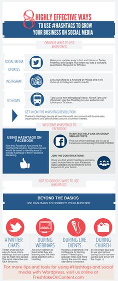 8 Highly Effective Ways To Use #Hashtags For Business. Are you taking advantage of Hashtags in your social media marketing?
