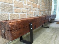 Rustic Wood Mantels for Sale . Rustic Wood Mantels for Sale . Reclaimed solid Wood Fireplace Mantel X X Cedar Rustic Outdoor Benches, Rustic Wood Bench, Rustic Outdoor Furniture, Rustic Chair, Rustic Farmhouse, Wood Benches, Barnwood Ideas, Rustic Homes, Garden Benches