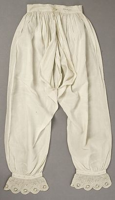 Drawers Date: 1840s Culture: American Medium: linen (still being used along…