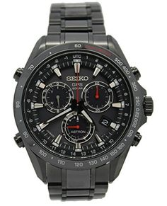 New Seiko Astron Solar GPS Black PVD Stainless Steel Men's Watch SSE031 by Seiko Astron -- Awesome products selected by Anna Churchill