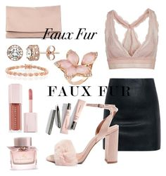 """""""Nude - faux fur"""" by johnstanbarnesx on Polyvore featuring Topshop, McQ by Alexander McQueen, Sole Society, Diamond Splendor, Bling Jewelry, Puma and Burberry"""
