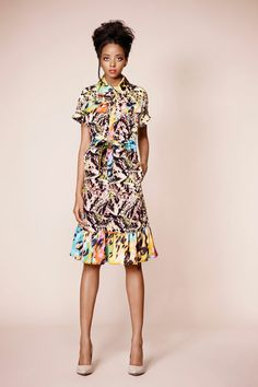 Doru Olowu Spring 2013.    This collection reminds me too much of Erdem.