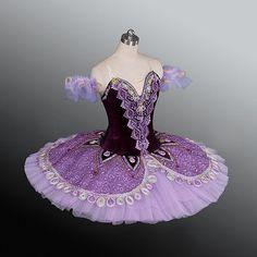 Professional Ballet Tutu Platter Dance Costume Competition Performance Purple