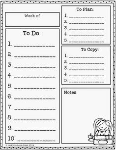 Organize your week!