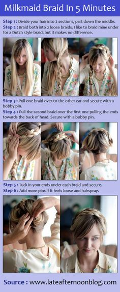 Milkmaid Braid In 5 Minutes | PinTutorials