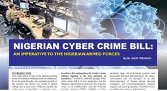 Nigerian Cyber Crime Bill An Imperative To The Nigerian Armed Forces by Ikeri Fredrick Armed Forces, Cyber, Physics, Crime, Special Forces, Crime Comics, Military, Physique, Fracture Mechanics