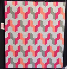 #msqc This quilt by Shea Henderson is gorgeous! We love the colors and it's such a fun, memorable pattern!