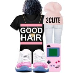 """""""I got that good hair"""" by renipooh on Polyvore http://globalcouture.net"""