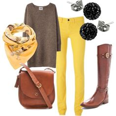 fall outfits polyvore | yellow fall outfit - Polyvore by _Lilian_