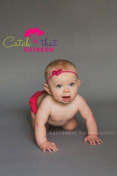 Heart headband pink baby girl headband sequin by catchthatrainbow