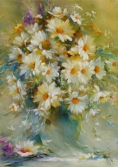 Картина ромашки «Утренняя радость»