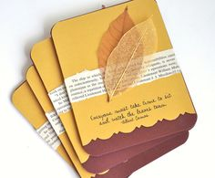Autumn Greeting Card Set of Four Blank Cards by TerraBellusPaperCo, $8.00