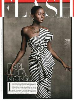 Lupita Nyong'o in J Mendel / Vogue January 2014