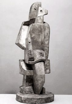 Jacques Lipchitz (1891-1973) - Seated Man with Clarinet, 1920