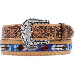 Men's Tony Lama Comanchero Beaded Belt at Maverick Western Wear