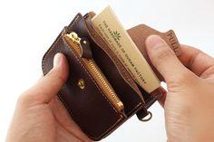 Ручной кожаный кошелек | кожаные аксессуары дурам ФАБРИКА