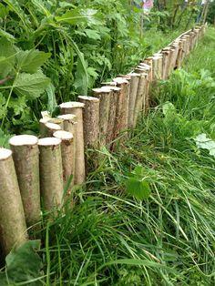 DIY-Beeteinfassung aus Holz
