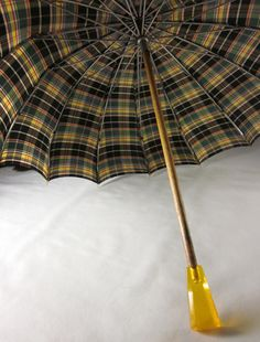 vintage plaid with bakelite handle