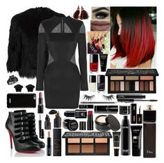"""""""In Charge"""" by girlygirlprincess ❤ liked on Polyvore featuring Theory, Balmain, Christian Louboutin, Givenchy, Louis Vuitton, NYX, Christian Dior, MAC Cosmetics, Lancôme and Kat Von D"""