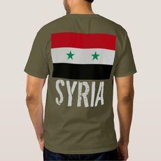 Flag of Syria Tee Shirts